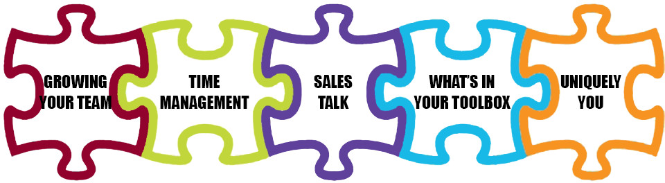 Growing Your Team, Time Management, Sales Talk, What's In Your Toolbox, Uniquely You